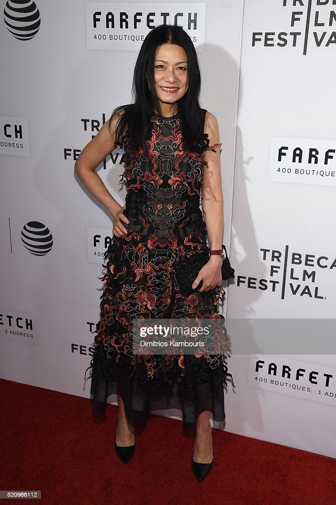 Fashion designer Vivienne Tam attends the 'First Monday In May' world premiere during the 2016 Tribeca Film Festival opening night at BMCC John Zuccotti Theater on April 13, 2016 in New York City.