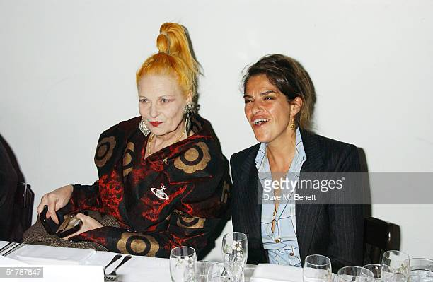 Fashion designer Vivienne Westwood and artist Tracey Emin attend party for men's magazine Arena Homme Plus thrown on behalf of Alexander McQueen by...