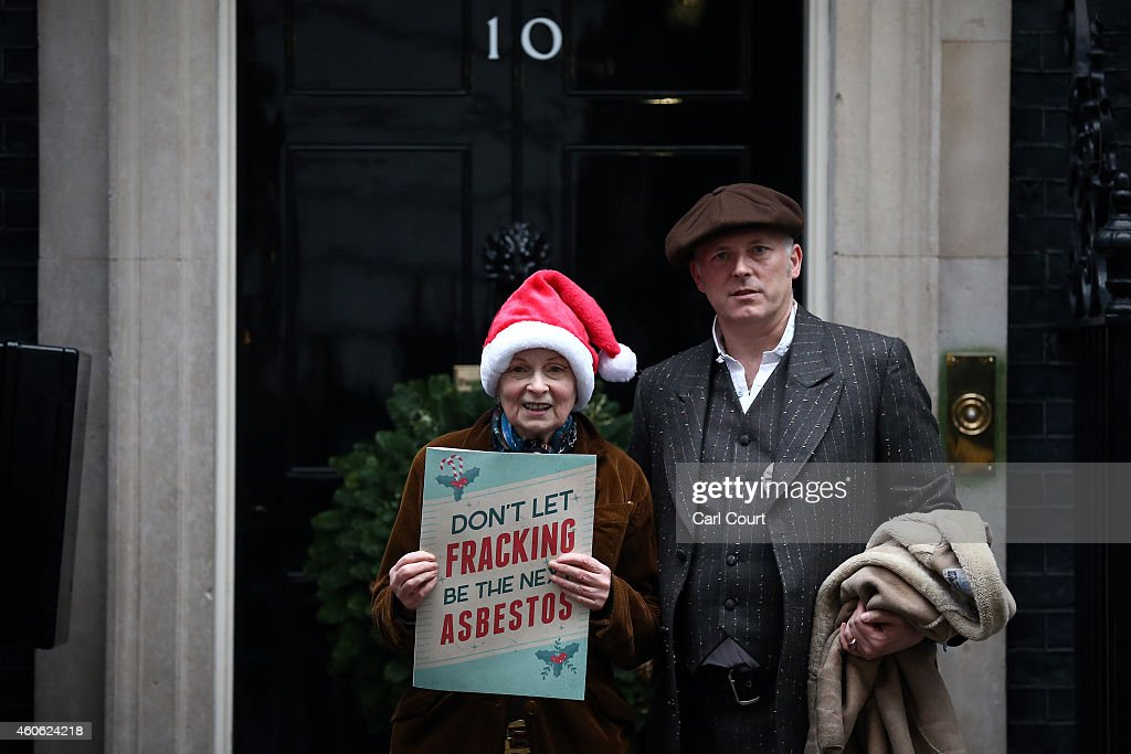 Fashion Designer Vivienne Westwood Delivers Anti-Fracking Letter To Downing Street