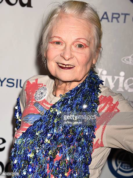 Fashion designer Vivienne Westwood attends the Art of Elysium 2016 HEAVEN Gala presented by Vivienne Westwood Andreas Kronthaler at 3LABS on January...