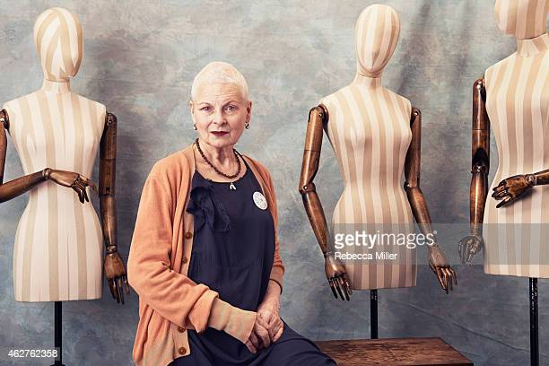 Fashion designer Vivienne Westwood is photographed for The Hollywood Reporter on September 10 2014 in London England