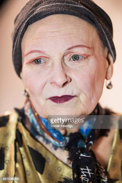 Fashion designer Vivienne Westwood is photographed on February 16 2014 in London England