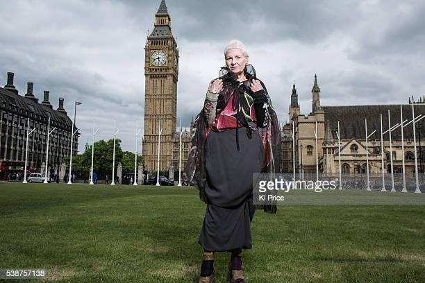 Fashion designer Vivienne Westwood is photographed on June 16 2014 in London England