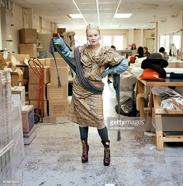 Fashion designer Vivienne Westwood is photographed on March 13 2012 in London England