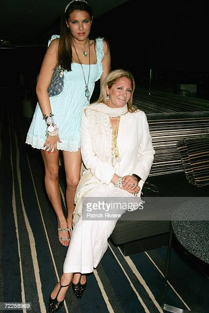 Fashion designer Wendy HeatherHunter with her daughter actress Isabella Hunter attend the launch of the new Club Bar on the top floor of the...