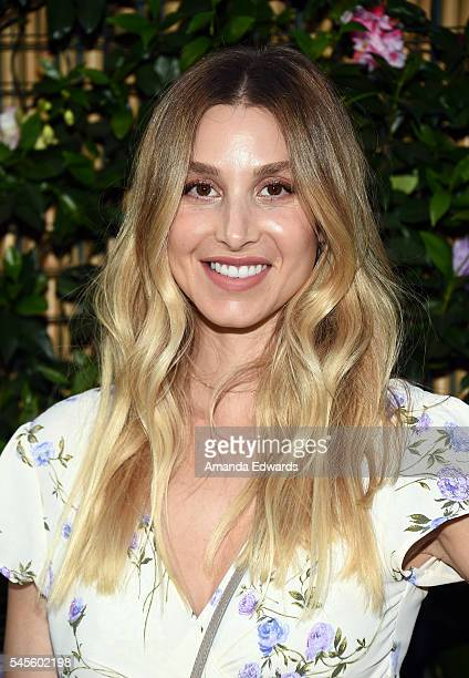 Fashion designer Whitney Port arrives at the bando Poolside Party at The Line Hotel on July 8 2016 in Los Angeles California