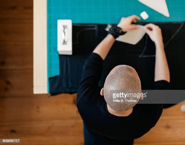 Fashion Designer working dress design
