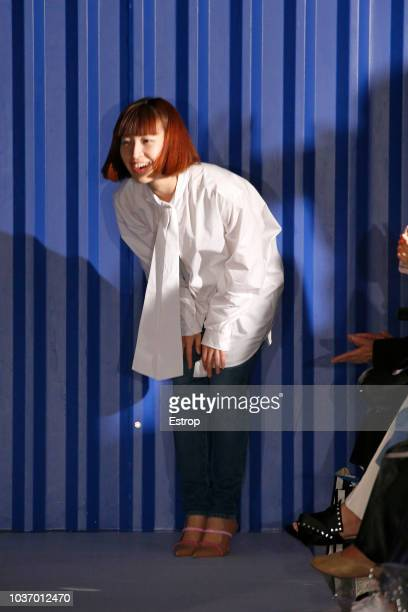 Fashion designer Xiao Li at the Xiao Li Show during London Fashion Week September 2018 at The BFC Show Space on September 14 2018 in London England