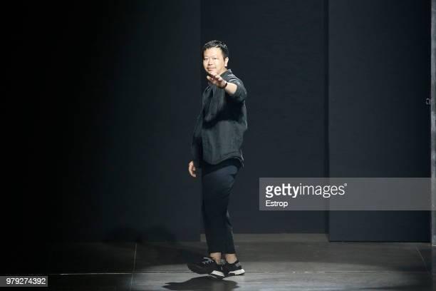 Fashion designer Yosuke Aizawa at the Hunting World show during Milan Men's Fashion Week Spring/Summer 2019 on June 18 2018 in Milan Italy