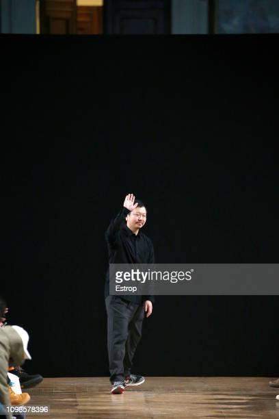 Fashion designer Yosuke Aizawa during the White Mountaineering Menswear Fall/Winter 20192020 show as part of Paris Fashion Week on January 19 2019 in...