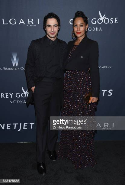 Fashion designer Zac Posen and actress Tracee Ellis Ross attend The Weinstein Company's PreOscar Dinner in partnership with Bvlgari and Grey Goose at...