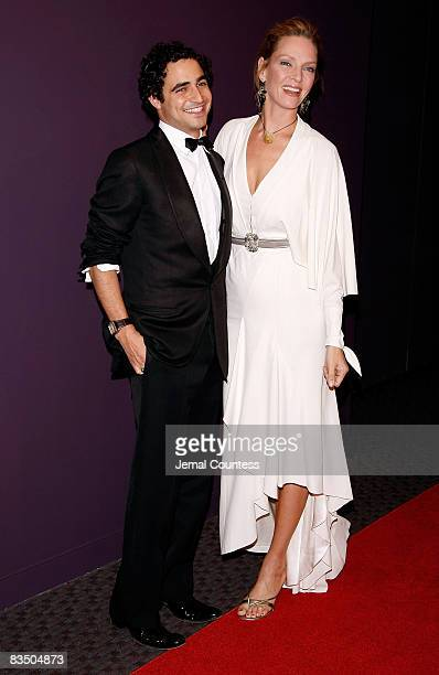 Fashion Designer Zac Posen and Actress Uma Thurman attend the 2008 Young Patrons of Lincoln Center Fall Masquerade Gala at the Rose Building on...