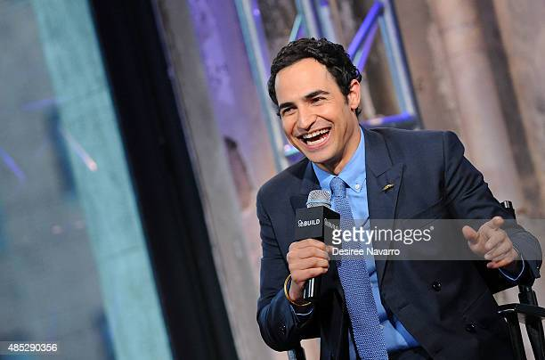 Fashion designer Zac Posen attends AOL Build Presents 'Project Runway' at AOL Studios In New York on August 26 2015 in New York City