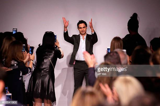 Fashion designer Zac Posen on the runway at the Zac Posen fashion show during New York Fashion Week September 2016 at Spring Studios on September 12,...