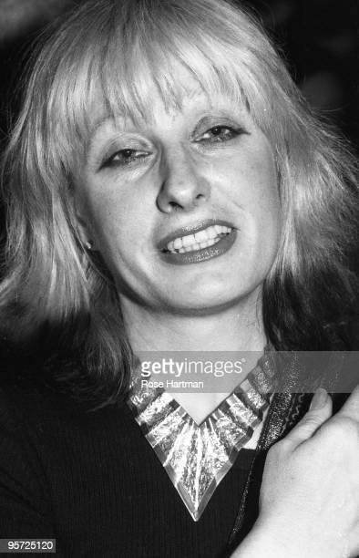 Fashion designer Zandra Rhodes at a fashion show in 1983 in New York City New York