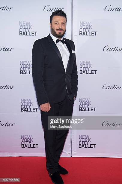 Fashion Designer Zuhair Murad attends the 2015 New York City Ballet Fall Gala at the David H Koch Theater at Lincoln Center on September 30 2015 in...