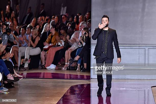 Fashion designer Zuhair Murad walks the runway during the Zuhair Murad Haute Couture Fall/Winter 20162017 show as part of Paris Fashion Week on July...