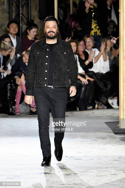Fashion designer Zuhair Murad walks the runway during the Zuhair Murad Haute Couture Spring Summer 2018 show as part of Paris Fashion Week on January...