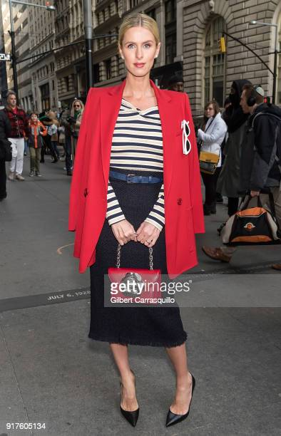 Fashion designer/businesswoman Nicky Hilton Rothschild is seen arriving to the Oscar de la Renta fashion show during New York Fashion Week at The...