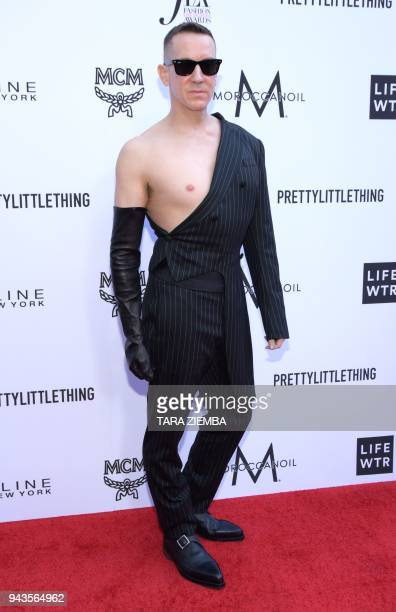 Fashion designer/honoree Jeremy Scott attends The Daily Front Row's 4th Annual Fashion Los Angeles Awards at Beverly Hills Hotel on April 8 2018 in...