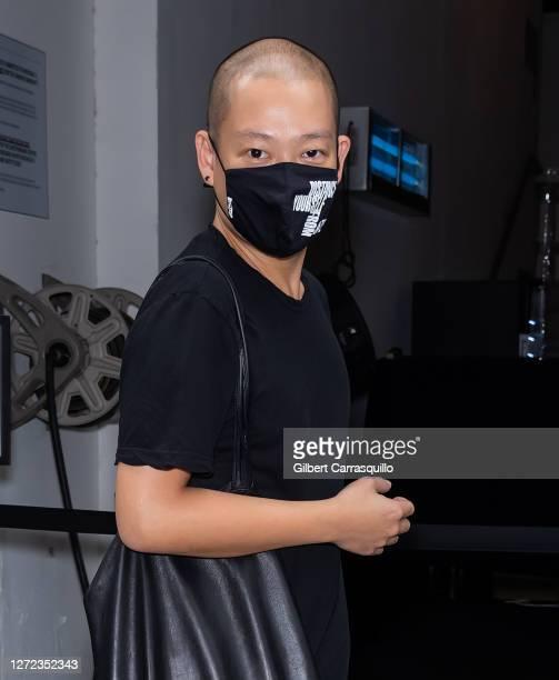 Fashion designerJason Wu is seen arriving to Jason Wu - September 2020 during New York Fashion Week at Spring Studios on September 13, 2020 in New...