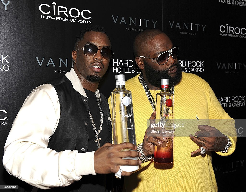 Fashion designer/recording artist Sean 'Diddy' Combs (L) and recording artist Rick Ross attend the grand opening of the Vanity nightclub hosted by Sean Diddy Combs at the Hard Rock Hotel and Casino on January 2, 2010 in Las Vegas, Nevada.
