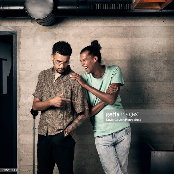 Fashion designers and cofounders of Mosaert Luc Van Haver and Stromae are photographed for Madame Figaro on May 29 2017 in Paris France PUBLISHED...