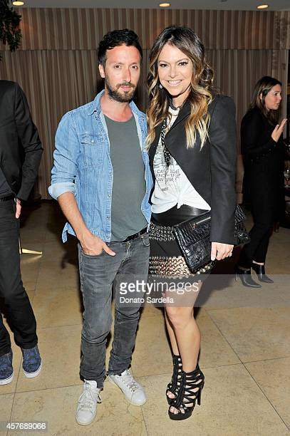 Fashion designers Anthony Vaccarello and Elyse Walker attend the FORWARD by Elyse Walker and Anthony Vaccarello dinner at Sunset Towers on October 22...