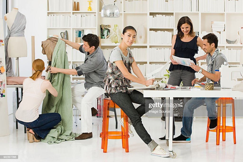 fashion designers at work stock photo getty imagesfashion designers at work stock photo