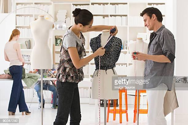 Fashion designers at work
