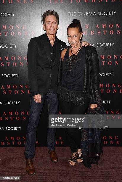 Fashion designers Calvin Klein and Donna Karan attend the Universal Pictures and Cross Creek Pictures with The Cinema Society screening of A Walk...