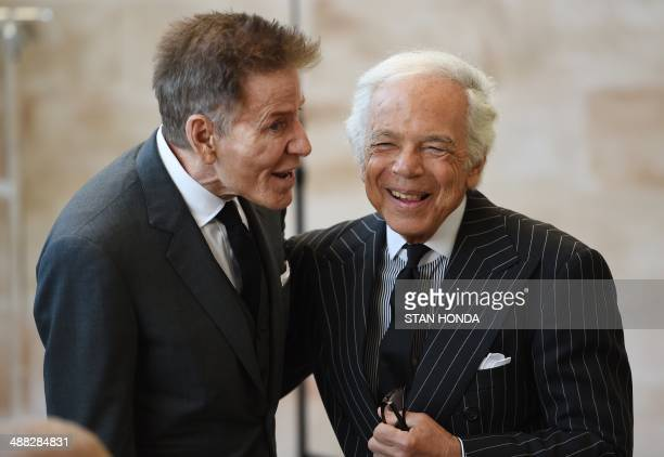 Fashion designers Calvin Klein and Ralph Lauren at the official opening of The Costume Institutes new Anna Wintour Costume Center at The Metropolitan...