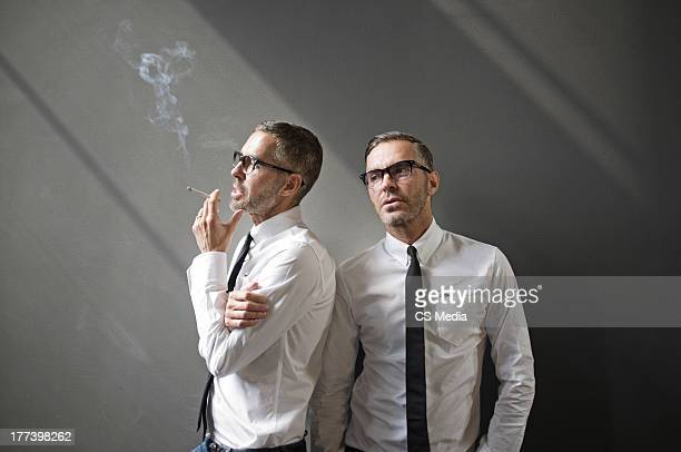 Fashion designers Dean and Dan Caten are photographed on April 22 2012 in Milan Italy