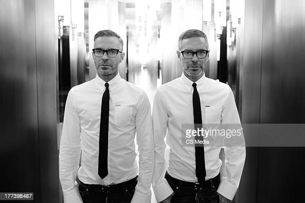 Fashion designers Dean Caten and Dan Caten are photographed on April 22 2012 in Milan Italy