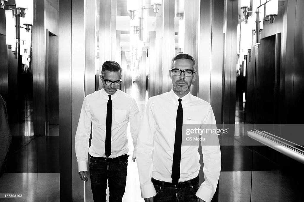 Fashion designers Dean Caten and Dan Caten are photographed on April 22, 2012 in Milan, Italy.