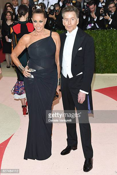 Fashion designers Donna Karan and Calvin Klein attend the 'Manus x Machina Fashion In An Age Of Technology' Costume Institute Gala at Metropolitan...