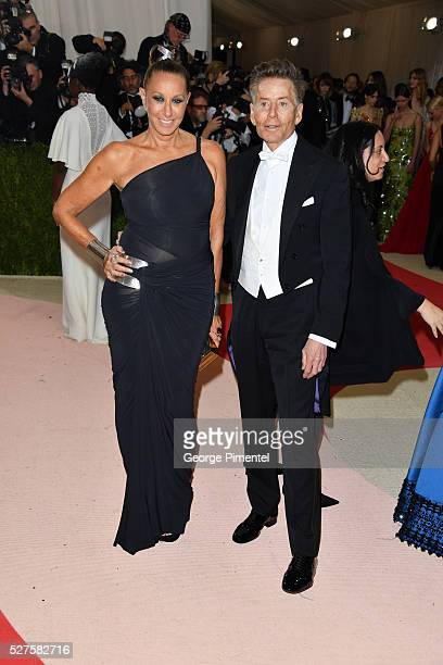 Fashion designers Donna Karan and Calvin Klein attends the 'Manus x Machina Fashion in an Age of Technology' Costume Institute Gala at the...