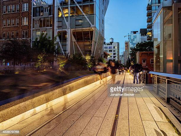 Fashion designers for Calvin Klein Francisco Costa's favorite place The High Line is photographed for Vanity Fair Spain on July 11 2013 in New York...