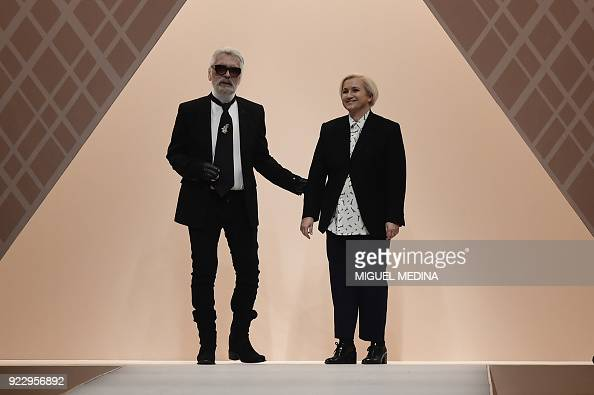 Fashion Designers For Fendi Karl Lagerfeld And Silvia Venturini News Photo Getty Images