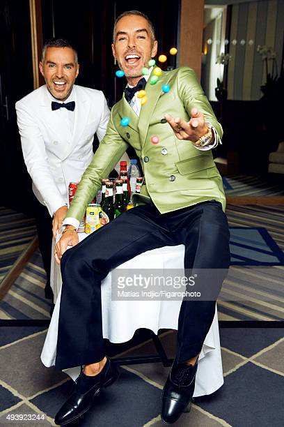 Fashion designers founders and owners of DSquared2 Dean Caten and Dan Caten are photographed for Madame Figaro on May 23 2015 in Cannes France All...