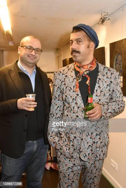 Fashion designers Georges Bedran and Karim Bonnet from Impasse De la Defense attend the Impasse De La Defense Show At Galerie 59 Rue de Rivoli on...