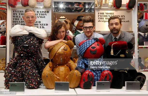 Fashion designer's Giles Deacon Katie Grand Henry Holland and Patrick Grant attend the official launch photocall for the 2012 Designer Pudsey...