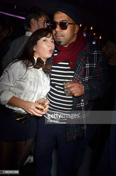 Fashion designers Isabelle Ballu and Karim Bonnet from 'Impasse de La Defense' attend the Jean-Charles de Castelbajac Celebrates His Birthday at the...