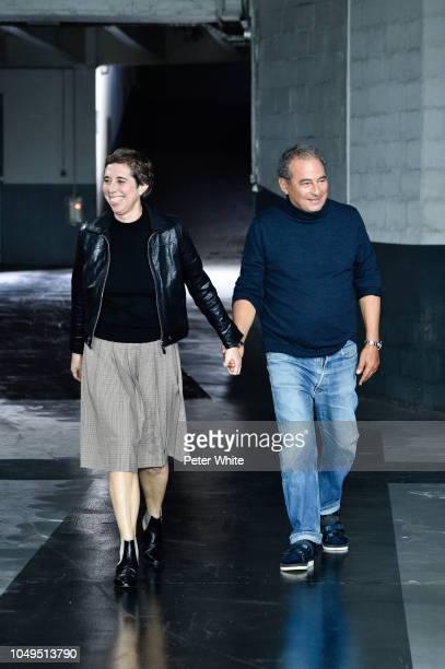 Fashion designers Jean Touitou and Judith Touitou walk the runway during the APC show as part of the Paris Fashion Week Womenswear Spring/Summer 2019...