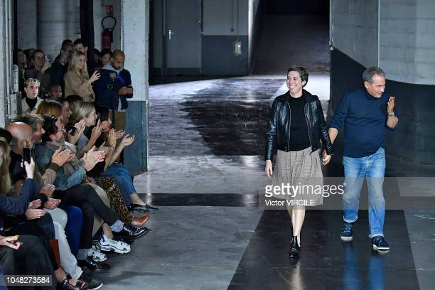 Fashion designers Jean Touitou and Judith Touitou walks the runway during the APC Ready to Wear fashion show as part of the Paris Fashion Week...