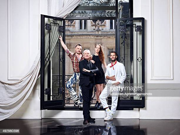 Fashion designers JeanPaul Lespagnard Jean Paul Gaultier Iris van Herpen and Simon Porte Jacquemus are photographed for Madame Figaro on June 11 2015...