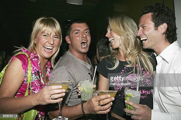 Fashion Designers Jenny Munster, Alex Zabotto-Bentley, model/actress Annaliese Braakensiek and her boyfriend Danny Goldberg attend the Robert Rosen...