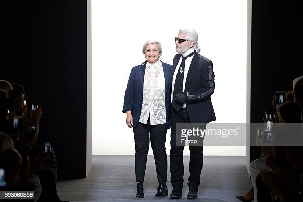 Fashion Designers Karl Lagerfeld And Silvia Venturini Fendi During News Photo Getty Images