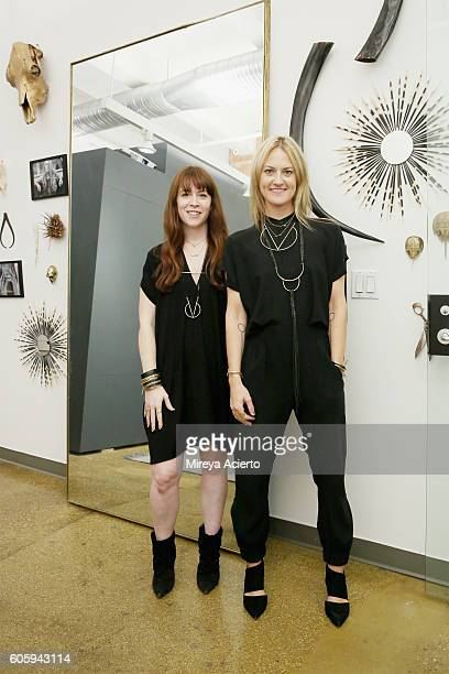 Fashion designers Katie Guzman and Michael Miller attend CFDA {Fashion Incubator} Market Day presentation during New York Fashion Week September 2016...
