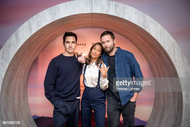 Fashion designers Lazaro Hernandez Jack McCollough and Rabea Schif attend the VOGUE Germany Proenza Schouler Host Arizona fragrance launch event on...